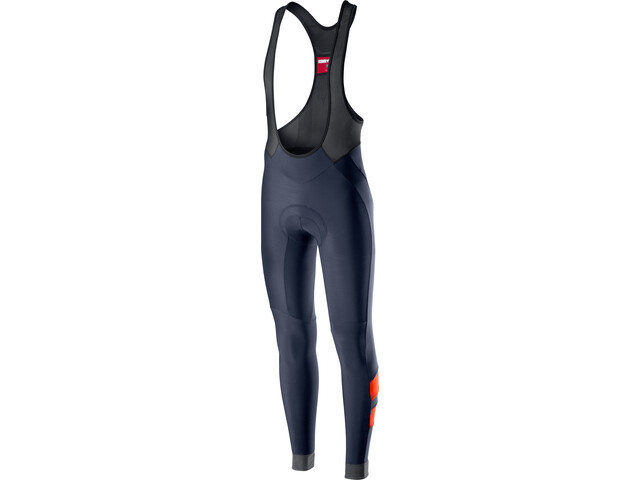Castelli Velocissimo 4 Cuissards longs à bretelles Homme, dark/steel blue/orange